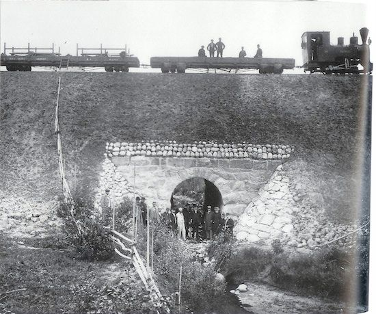 «Jødalskulverten» mellom Kvevli og Mork – over Krogstadåa