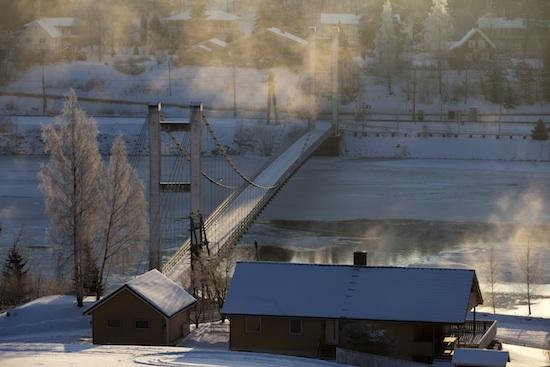 Brua ved Rånåsfoss fra boka «Glomma gjennom Sørum – livet langs elva»